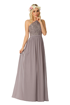 LANICO One Shoulder Ruching Style Floor Length Bridesmaid Dress Evening Dress -LN2001