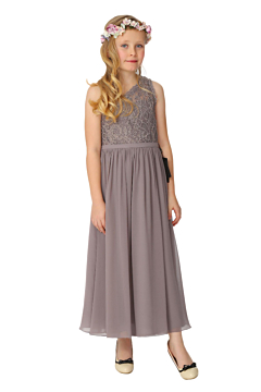 LANICO KID/JUNIOR Lovely One Shoulder Chiffon Lace Flower Girl Dress Junior Bridesmaids Dress-LN2001JN