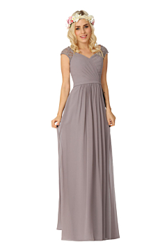 LANICO Regular Straps Criss-Cross Style Floor Length Bridesmaid Dress Evening Dress - LN2002