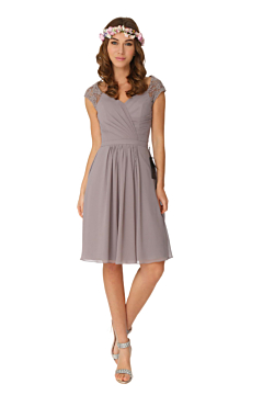 LANICO Knee Length Cocktail Bridesmaid Dress with cap sleeves- LN2002K