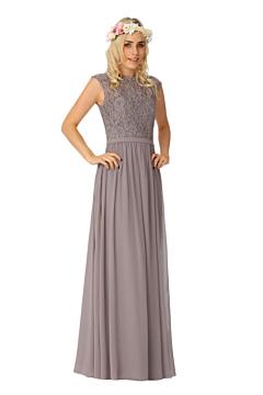LANICO Jewel Neckline Ruching Style Floor Length Bridesmaid Dress Evening Dress - LN2003