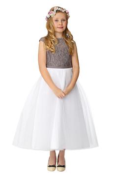 LANICO KID/JUNIOR Lovely JewelNeckline Ruching Style Flower Girl Dress Junior Bridesmaids Dress-LN2003FG