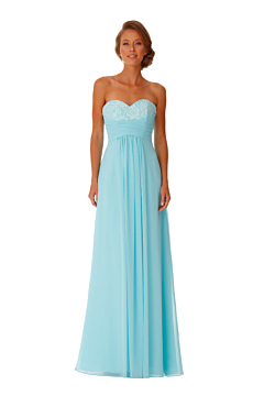 LANICO Strapless With Appliques Ruched Details Full length dress Bridesmaid Dress Evening Dress - LN2039