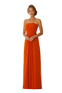 LANICO Strapless With Criss-Cross Ruched Details Full length dress Bridesmaid Dress Evening Dress - LN2046