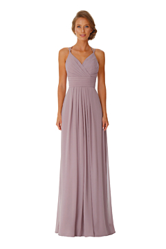 LANICO Spaghetti Straps Backless With Criss-Cross Ruched Details Full length dress Bridesmaid Dress Evening Dress - LN2050