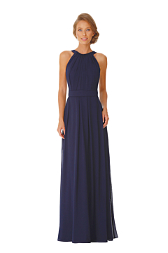 LANICO Halter Neckline With Ruched Details Full length dress Bridesmaid Dress Evening Dress - LN2052