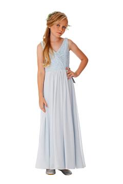 LANICO KID/JUNIOR Regular Straps V-Neck Neckline With Lace Details Flower Girl Dress Junior Bridesmaids Dress - LN2055JN