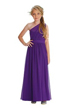 LANICO KID/JUNIOR Lovely One Shoulder With Draped Details Flower Girl Dress Junior Bridesmaids Dress - LN2056JN