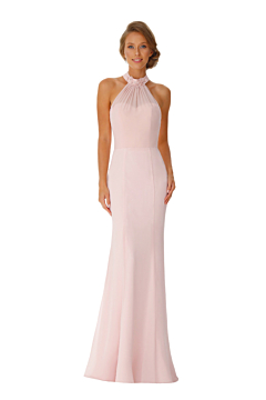 LANICO high Neckline With Beading Flower(s) Details Full Length Dress Bridesmaid Dress Evening Dress - LN2057