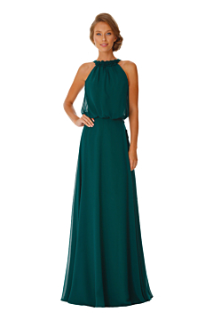 LANICO Halter Neckline Backless With  Flower(s) Details Full Length Dress Bridesmaid Dress Evening Dress - LN2059
