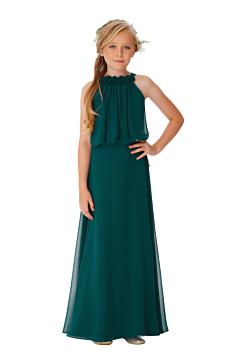 LANICO KID/JUNIOR Halter Neckline Backless With  Flower(s) Details Full Length Dress Bridesmaid Dress Evening Dress - LN2059JN
