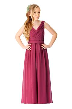 LANICO Junior Dress  V neck A line bridesmaid dress with V back - LN2066JN