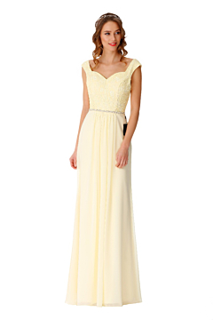LANICO sweetheart neckline backless bridesmaid dress with Lace top - LN2071