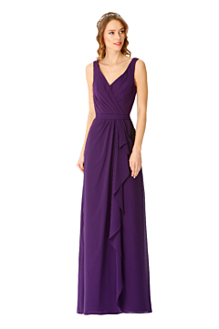 LANICO chiffon classic bridesmaid dress with high open back design -LN2072