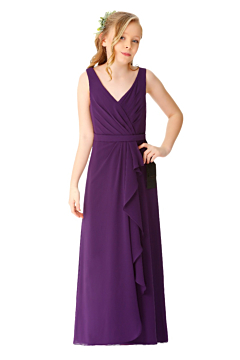 LANICO chiffon classic junior bridesmaid dress -LN2072JN