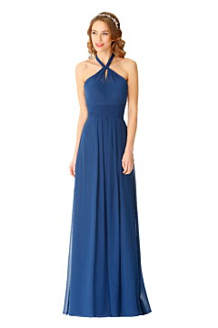 LANICO X neckline classic chiffon dress -LN2073