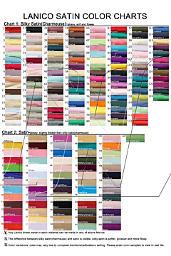Order Color Swatches - Satin
