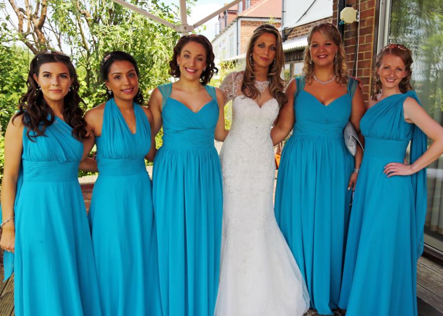 Beautiful Bridesmaids in Blue!
